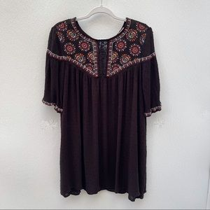 Miami embroidered peasant boho chic dress small